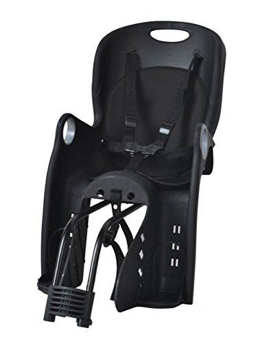 ISO TRADE Kinderfahrradsitz Fahrradsitz Sicherheitssitz Fahrrad Kindersitz + Halterung 1623, Farbe:Schwarz