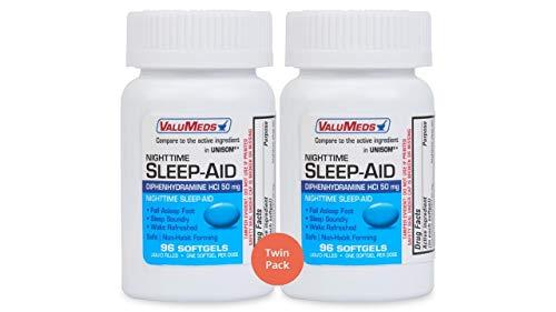 ValuMeds Nighttime Sleep Aid (Twin Pack - 192 Softgels)...