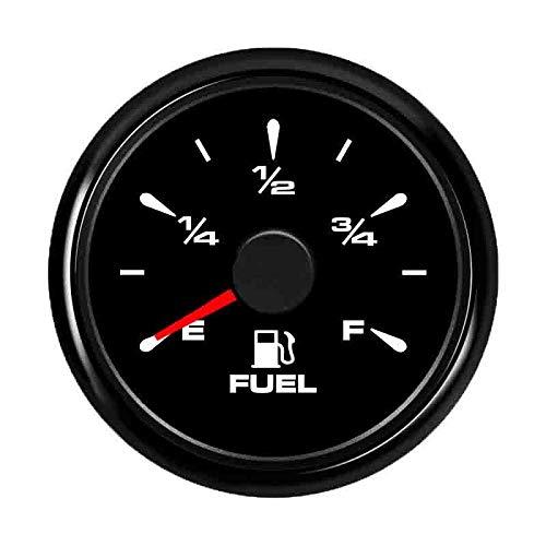 U/D HKRSTSXJ Kraftstoffanzeigen 52mm Wasserdicht Auto-Boot Kraftstoffanzeige for 0~190ohm Kraftstoffstand-Sensor mit Hintergrundbeleuchtung 9~32V (Color : Black 34 Gauge, Size : Kostenlos)