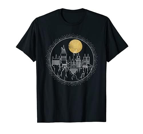 Harry Potter Hogwarts Full Moon Line Art Camiseta