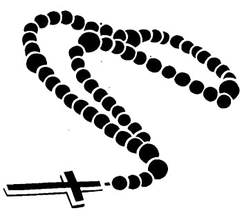 Rosary Prayer Beads - Domincan Catholic Church tattooing temporary tattoos Cute Face stickers one sheet of A4 paper