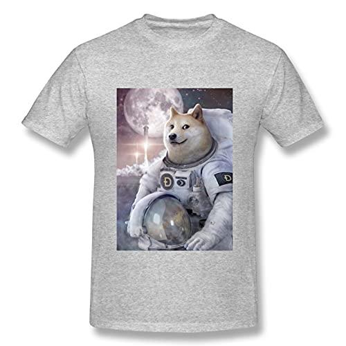 FREE Dogecoin Comfort Tops camiseta de manga corta (gris)