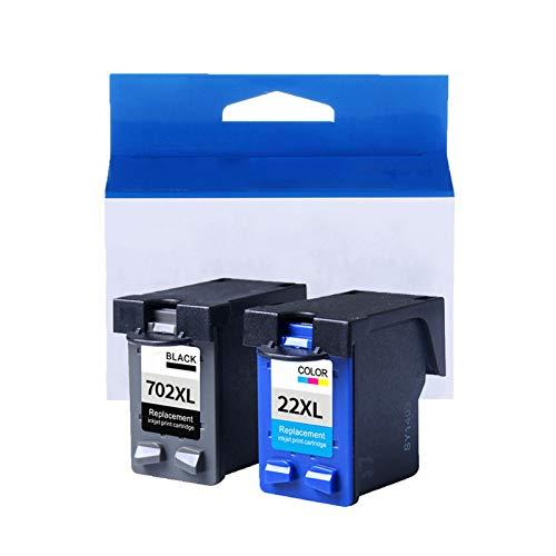 Cartuchos de tinta para HP DESKJET 3910, D1311, D1420, D1520, D2330, D2430, F2110, F2250, F325, F4135, OfficeJet 4315, J3680, modelo 702XL/2XL, alta definición, dos juegos