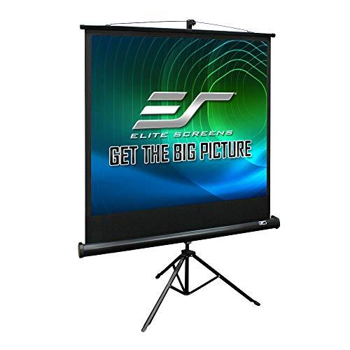Elite Screens Tripod Series, 136-INCH 1:1, Adjustable Multi Aspect Ratio Portable Indoor Outdoor Projector Screen, 8K / 4K Ultra HD 3D Ready, US Based Company 2-Year Warranty, T136UWS1 - Black
