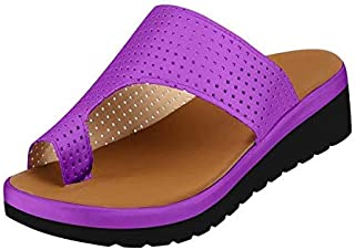Women Comfy Platform Sandal, Orthopedic Toe Corrector Bunion Comfy Foot Sandals, Summer Comfortable Clip Toe Sandals Suitable for Everyday Wear