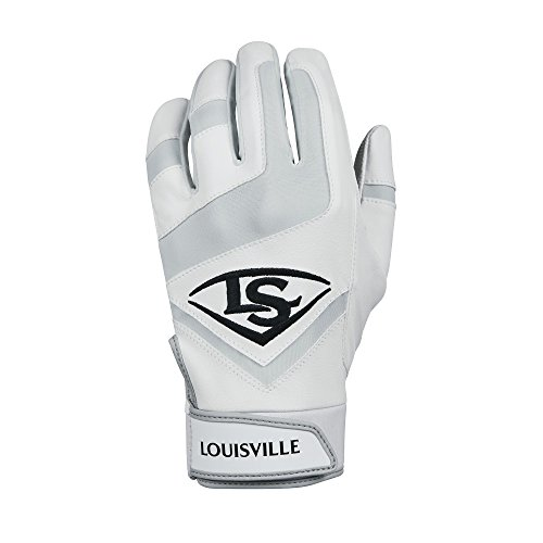Louisville Slugger Genuine Youth Batting Gloves - Youth Small, White
