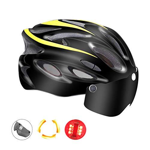 Lichte verstelbare fietshelm met skibril, fietshelm voor heren en dames.