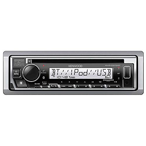 Kenwood KMR-D378BT Marine CD Receiver with Alexa, Bluetooth, Aux and USB Interface