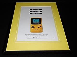 1999 Game Boy Color Super Mario Bros Framed 11x14 ORIGINAL Vintage Advertisement