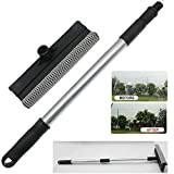 Car Windshield Wash Cleaner Extendable Window Squeegee Cleaner Scrubber Brush Wiper Sponge,with Long-Reach Handle, Unique Pivoting Head Window Glass Cleaner, Car & Home Interior Exterior Use (Black)