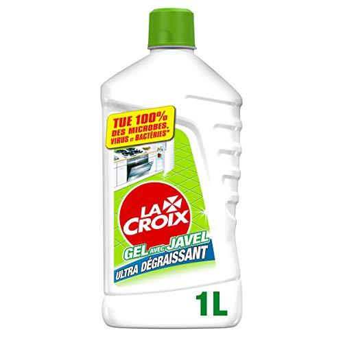 LA CROIX - Gel Désinfectant Javel Ultra-Dégraissant Fraîcheur Pure - Produit Ménager pour la Cuisine - À Utiliser Pur ou Dilué - Nettoie, Désinfecte, Désodorise - Flacon 1 Litre