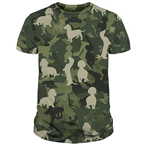Tea Beannie Dachshund Lovers Gift Cute Dog Dogs Veteran Camo Camouflage Full Printed All Over Print 3D Shirt