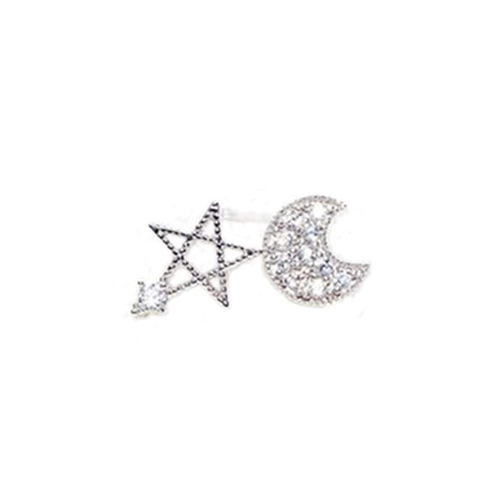 ブルームプログレッシブ感じNicircle スタームーン 非対称性 スタッドピアス イヤリング 女性用アクセサリー 美しい ワイルド デート Women Lady Girl Love Elegant Earrings Fashion Simple Shiny Earrings
