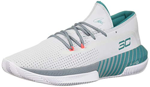 Under Armour Sc 3zer0 Iii Zapatos de Baloncesto Hombre, Gris (Halo Gray/Ash Gray/Teal Rush (101)...