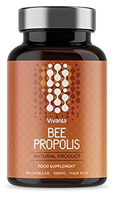 Bee Propolis - 1000mg x 180 Capsules | 6 Month Supply | Highest quality Propolis, Made in the UK | Rich source of bioflavonoids by Vivanta Nutrition