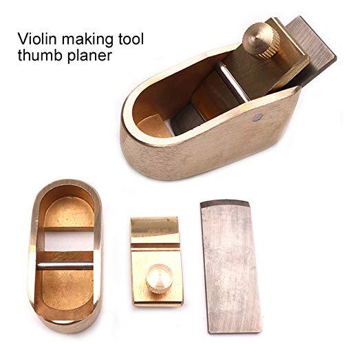 Valigrate Musikinstrument Zubehör Violine Hobel Cutter Tool Holzbearbeitung Hobel Cutter Messing Geigenbauer Violine Teile