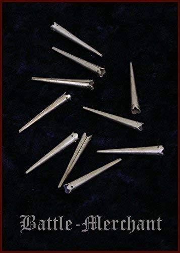 10 stuks nestelpunten van messing met kroon middeleeuwse LARP Viking