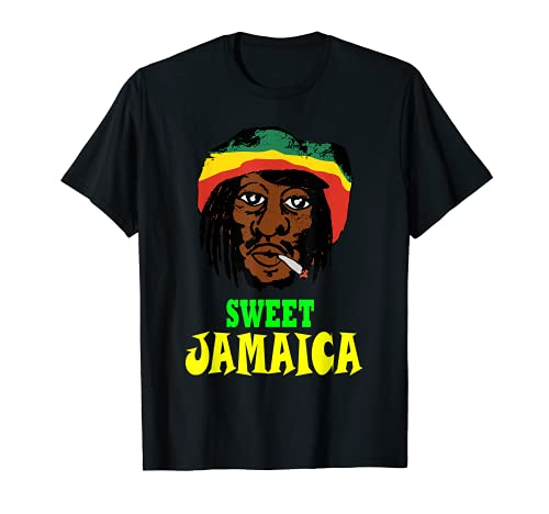 Cool Comisch Rasta Jamaikanisch Reggae Jamaika T-Shirt