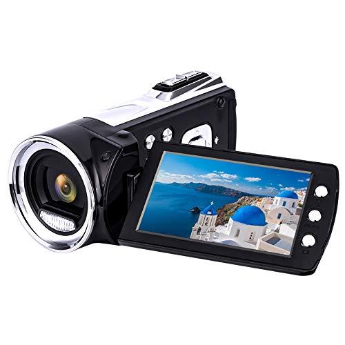 Videokamera Camcorder GDV5162 Wiederaufladbare Digitalkamera FHD 1080P 12MP 270° LCD drehbarer Bildschirm, Camcorder für Kinder/Anfänger/ältere Menschen