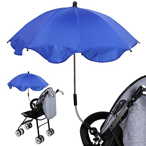 NJSDDB Umbrella 1pcs Adjustable Stroller Umbrella Rain UV Protection Baby Pram Pushchair Sun Shade Parasol with Universal Clamp H