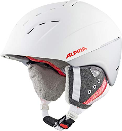 ALPINA SPICE Skihelm, Unisex– Erwachsene, white-flamingo matt, 52-56