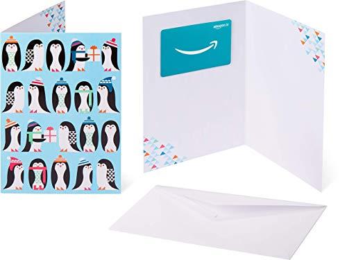 Amazon.de Geschenkkarte in Grußkarte (Pinguinkolonie)
