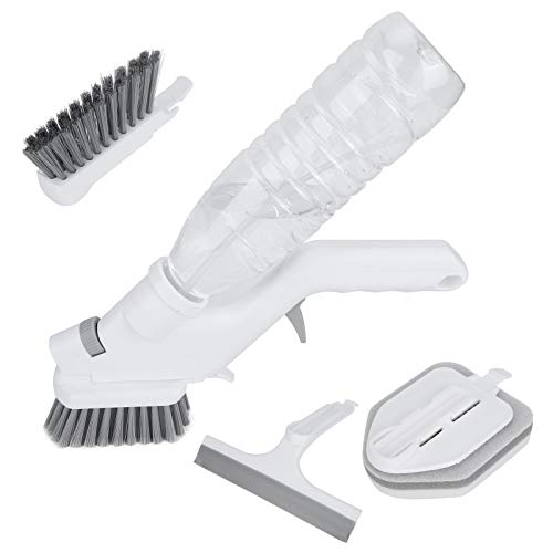 Spray Cleaning Brush Kit, Comfortable Kitchen Scrub Brush 26cm Made of Pp and Abs and Tpr and Pet Bristles Spray Cleaning Brush