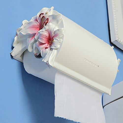 HOME résine support imperméable à l'eau des toilettes toilettes toilettes toilettes de tissu boîte de mouchoirs Creative grand porte-rouleau ( Couleur : Rose )