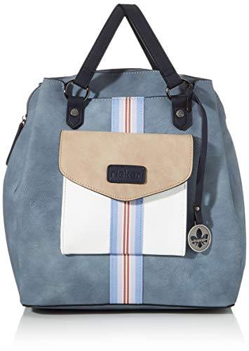 Rieker Damen Rucksackhandtasche H1026, Blau (Adria/Bianco/Nude), 320x120x310 cm