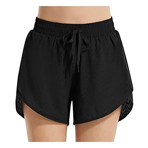 "BALEAF Women's 3"" Quick Dry Mesh Beach Board Shorts Liner UPF50+ Swim Surf Bottom Black XL"