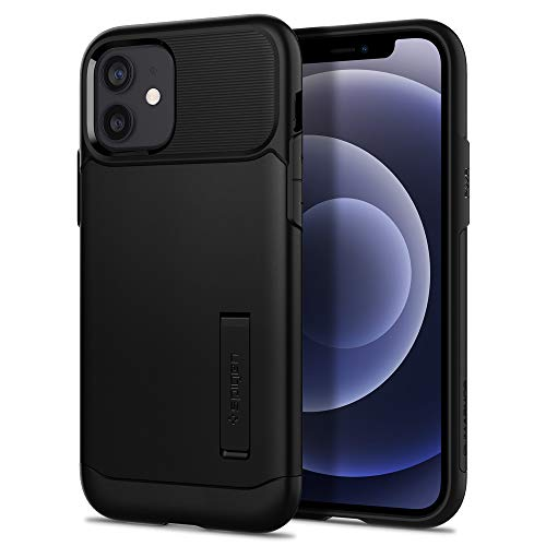 Spigen Slim ArmorTM ACS01523 - Funda Compatible con iPhone 12 (Pro), Color Negro