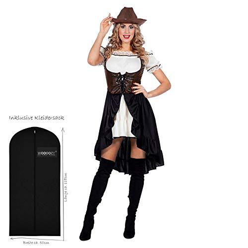 WOOOOZY Damen-Kostüm Western Saloon Girl / Lady, Gr. 48 - inklusive praktischem Kleidersack