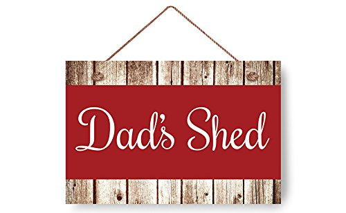 buythrow Dad's Shed Rustic Wood Signs Door Signs for Bedrooms Home Decor Wood Plaque for papa