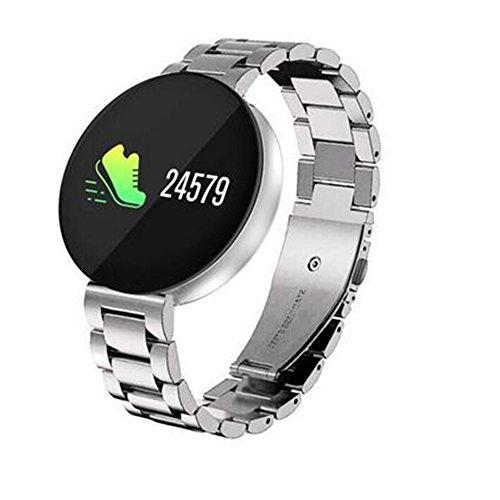 suivi d'activité CF008 montre de fréquence cardiaque, pression artérielle/sanguine oxygène Surveillance, écran couleur sans bordure Motif IP67 Fitness, pour Android et iOS Smartphone, A2