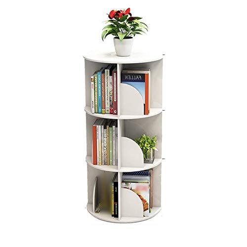 WANGJUNXIU Boekenplank, Roterende Boekenplank 360 Graden Ronde Boekenplank - Staande Studie Rek Display Stand Papierwerk Organiser 40X97cm