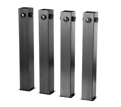 DormCo Suprima Ultimate Height Bed Risers - Carbon Steel - Black