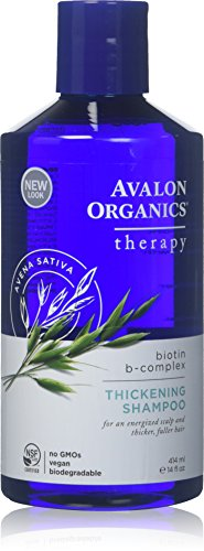 Avalon Organics Biotin B-Complex Champú espesante – 14 oz – 2 unidades