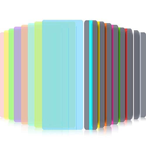 Aohua Characteristic Guiado Lectura Subrayar Tiras Teñidos Cubierta Lectura Tracking Reglas para Dislexia, Adhd y a Reductor Visual Estrés, Pack de 16