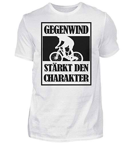 T-shirt da uomo con scritta in lingua inglese 'Annewind' che rafforza il carattere. Idea regalo per ciclisti, ciclisti, mountain bike bianco M