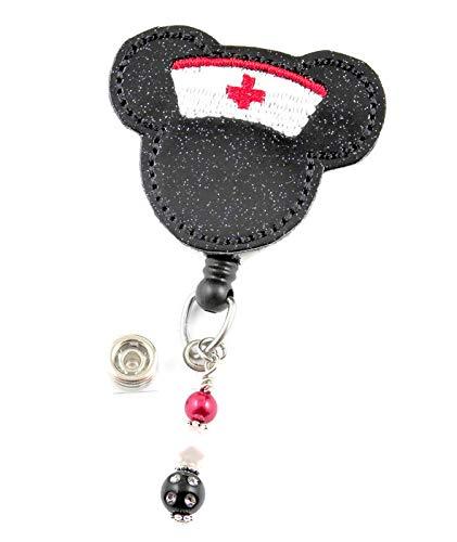 Nurse Mouse - Nurse Badge Reel - Retractable ID Badge Holder - Nurse Badge - Badge Clip - Badge Reels - Pediatric - RN - Name Badge Holder