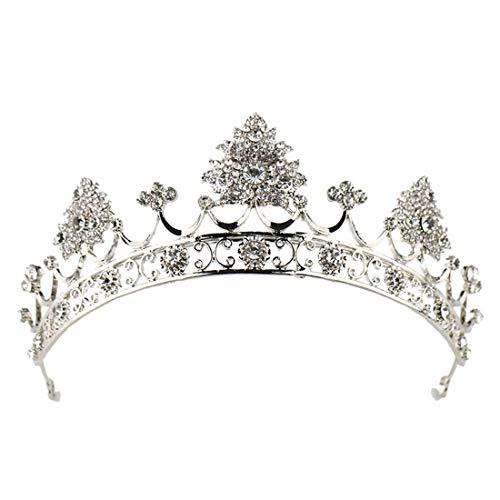 BERYLSHOP Corona Hoja Corona de Diamantes de imitación Joyería Nupcial Corona Corona de Princesa Tiara Corona de Diamantes de imitación