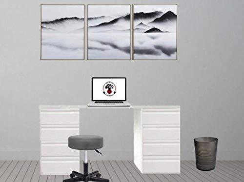 CARPINTERIA EXTREMAÑOS Mesa de Estudio Blanca de 140 cm Ancho x 60cm de Fondo x 74 cm de Altura con cajoneras a Ambos Lados y con Tablero de 30mm de Grosor