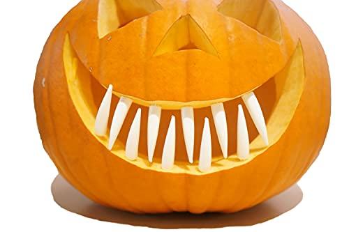 N/A 12 Kürbiszähne Zähne weiß Kunststoff je ca. 6,5cm