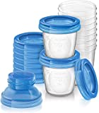 Philips Avent SCF618 / 10 Breast Milk Storage System, 180 ml Storage Jars, Screw Caps and Adapter
