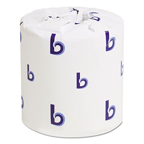 Boardwalk 6145 Bathroom Tissue, Standard, 2-Ply, White, 4 X 3 Sheet, 500 Sheets/roll, 96/Carton, 1 Count (Pack of 1)
