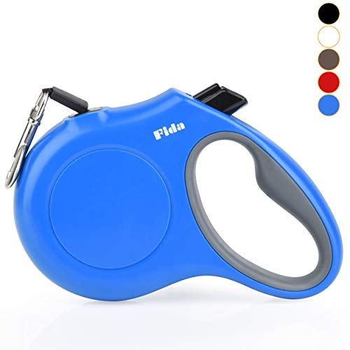 Fida Retractable Dog Leash X-Small Breed, 10 ft Durable Pet Walking Leash for Extra Small Dogs/Cats/Small Animals up to 18 lbs, 360° Tangle Free, Blue