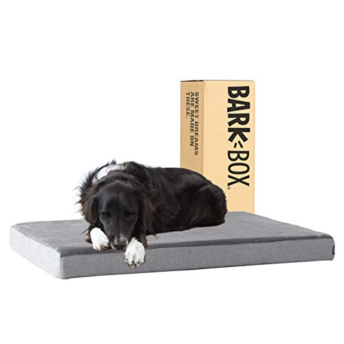 Barkbox Memory Foam Platform Dog Bed | Plush Mattress for Orthopedic Joint Relief (Large, Grey)