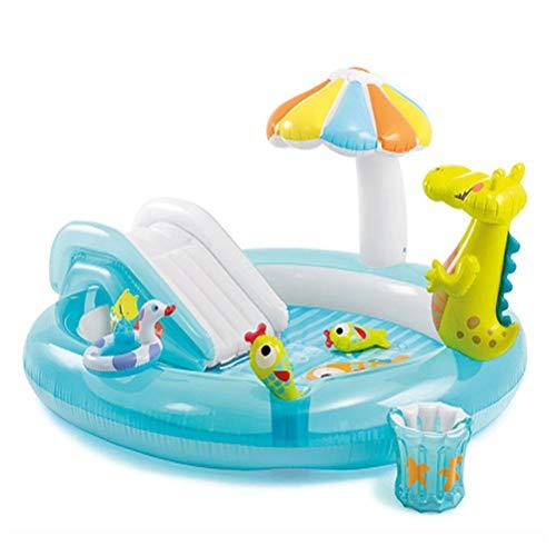 PVC Huishoudelijke Children's Opblaasbaar Zwembad Multifunctionele Plonsbad Water Park Voor Peuters Van 2-4,Crocodile slide pool
