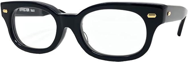 EFFECTOR サングラス 伊達眼鏡 メガネ fuzz-BKG ゴールド金具 【日本製】 ブラック ゴールド メンズ レディース ファッション おしゃれ シンプル めがね工房ハトヤ オリジナルメガネ拭き付【正規品】