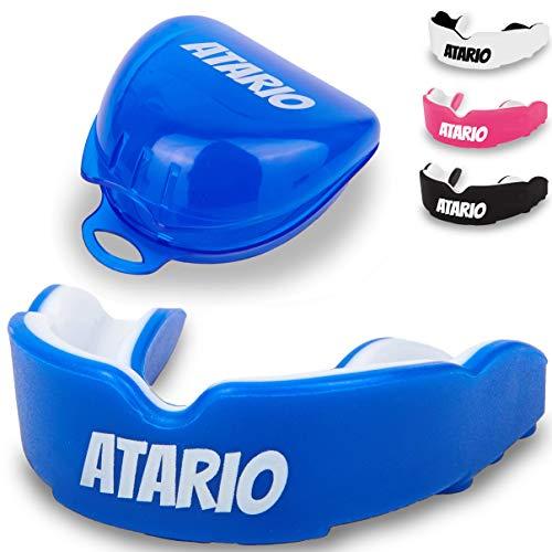 Mundschutz mit perfektem Halt [inkl. Transportbox] – Zahnschutz [BPA-frei] für maximale Leistung beim Sport – Mundschutz zum Boxen, MMA, Kampfsport & Football – Zahnschutz für Erwachsene und Kinder